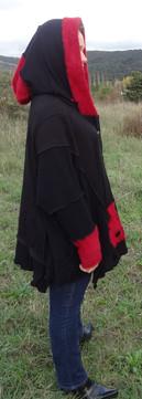 Gilet oversize noir et rouge