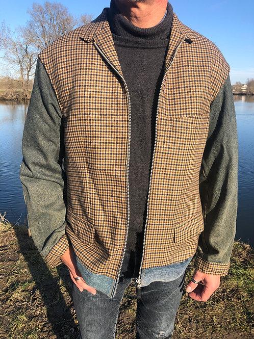 Veste laine hipster jacket upcycled L