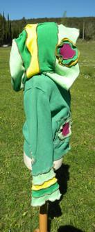 Gilet vert grande capuche