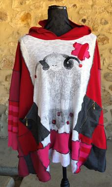 Pull oversize imprimé mouton