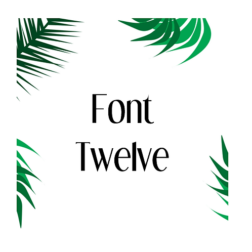 Font 12 Labels