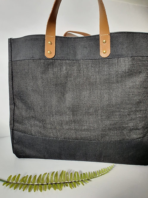 Large luxe jute bag