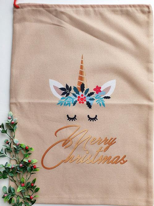 Unicorn Christmas Sack