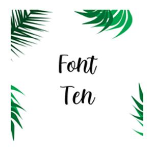 Font 10 Labels