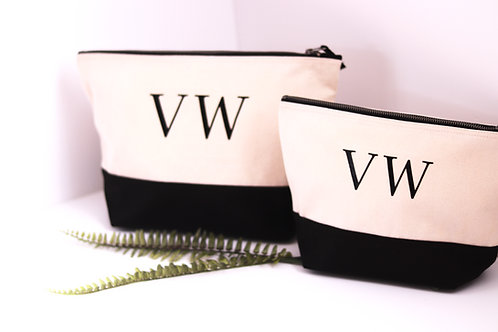 Set of 2 Duo Colour Canvas Bags