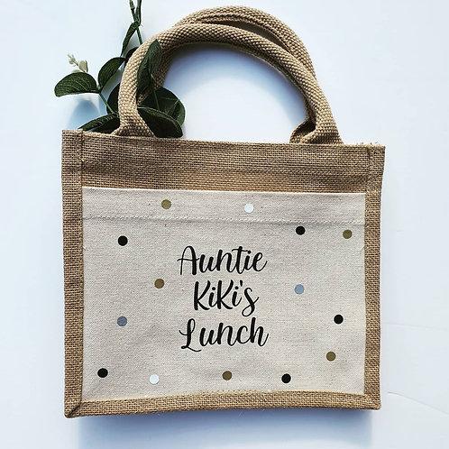 Small jute bag / Lunch bag