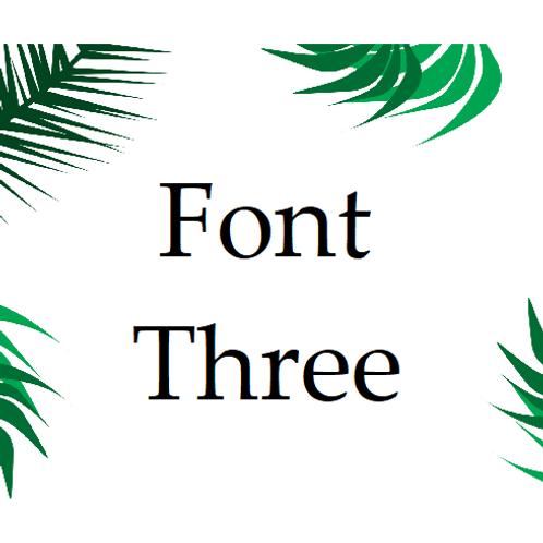 Font 3 Labels