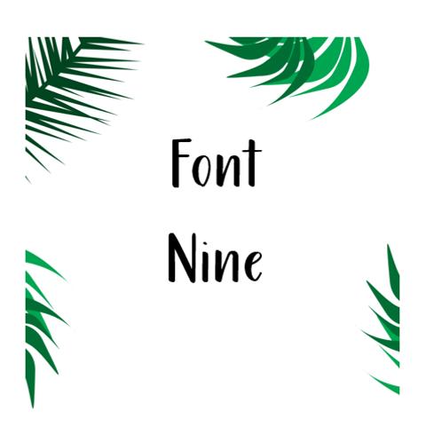 Font 9 Labels