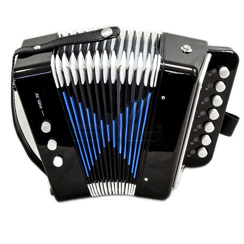 SKY Accordion Black Color 7 Button 2 Bass Kid Music Instrument *Great Gift*