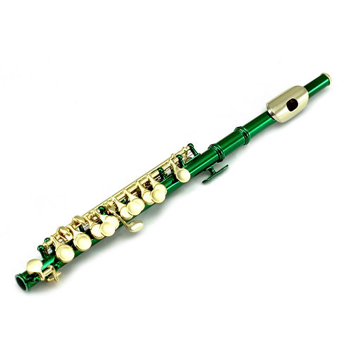 Sky Band Approved Green Lacquer Plated Gold Keys Piccolo Kit