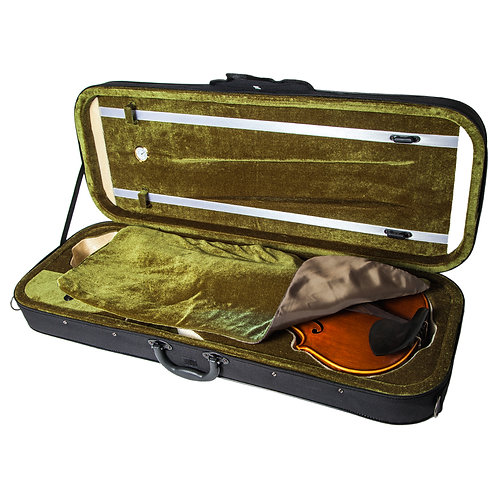 SKY 15.5-16 Inch Viola Oblong Case Lightweight with Hygrometer Black/Green