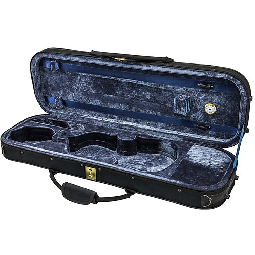 SKY 4/4 Full Size Violin Oblong Case Lightweight with Hygrometer Black/Navy