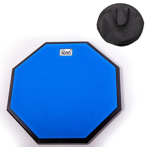 PAITITI 10 Inch Silent Portable Practice Drum Pad with Carrying