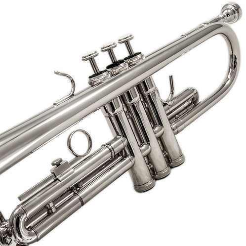 Sky Band Approved Nickel Plated Brass Bb Trumpet with Case, Nickel Plated