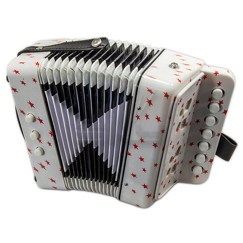 SKY Accordion Star Pattern 7 Button 2 Bass Kid Music Instrument *Great Gift*