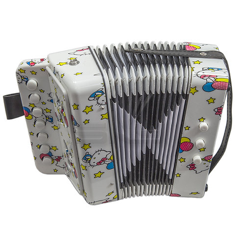SKY Accordion Hello Kitty 7 Button 2 Bass Kid Music Instrument *Great Gift*