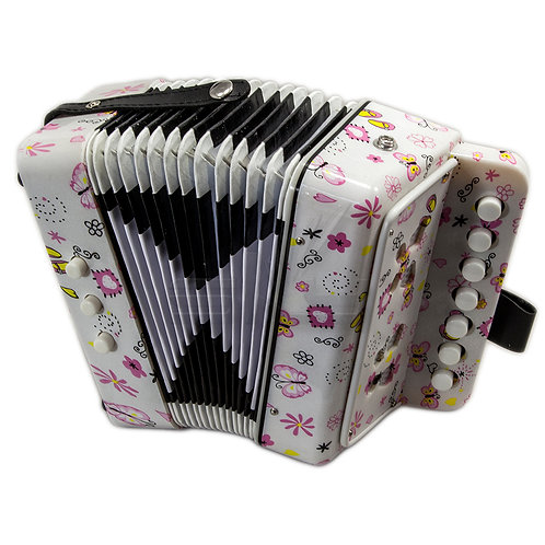 SKY Accordion Butterfly Design 7 Button 2 Bass Kid Music Instrument *Great Gift*