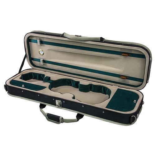 SKY 4/4 Full Size Violin Oblong Lightweight Case with Hygrometer Black/White