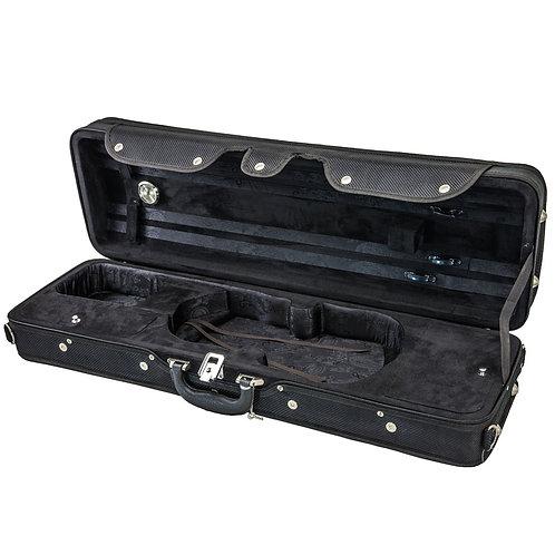 SKY 4/4 Full Size Violin Oblong Case Lightweight with Hygrometer Black/Black
