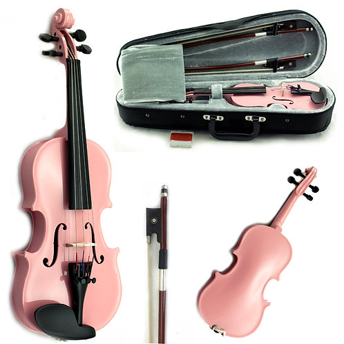 SKY Brand New Children's Violin Blue/Pink/Wood in 1/10 and 1/16