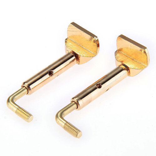 Pair of 4/4, 3/4 Size Violin Chinrest Chin Rest Clamp Screw Gold Detachable