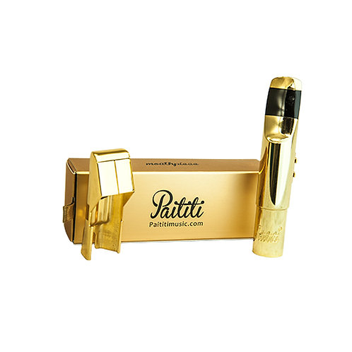 Paititi Professional Gold Plated Tenor Saxophone Metal Mouthpiece #7