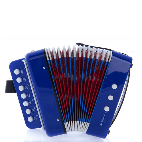 SKY Accordion Blue Color 7 Button 2 Bass Kid Music Instrument *Great Gift*