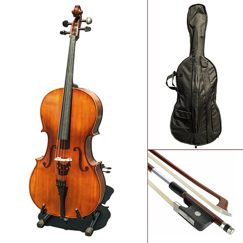 Paititi CE3005PE Scholar 256 Ebony Fitted Matte Finish Wood Cello