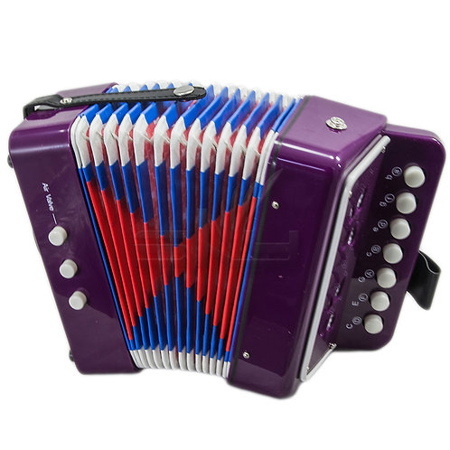 SKY Accordion Purple Color 7 Button 2 Bass Kid Music Instrument *Great Gift*