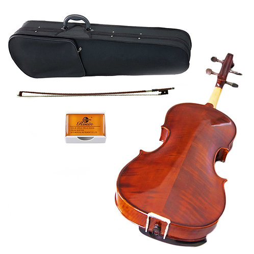 SKY Solid Wood Intermediate Level Viola Outfit w Lightweight Case Bow and Rosin