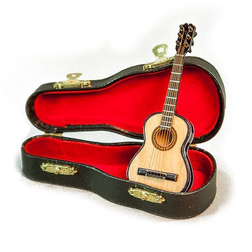 Sky Mini Guitar Classic Natural Finish Acoustic Miniature 4 Inches Guitar
