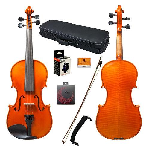 Paititi 4/4 Intermediate Level Plus Solid Wood Ebony Fitted Solid Wood Violin Ki