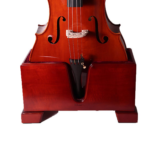 Paititi Premium Cello Burgundy Solid Wood Stand Velvet Plush Cushions