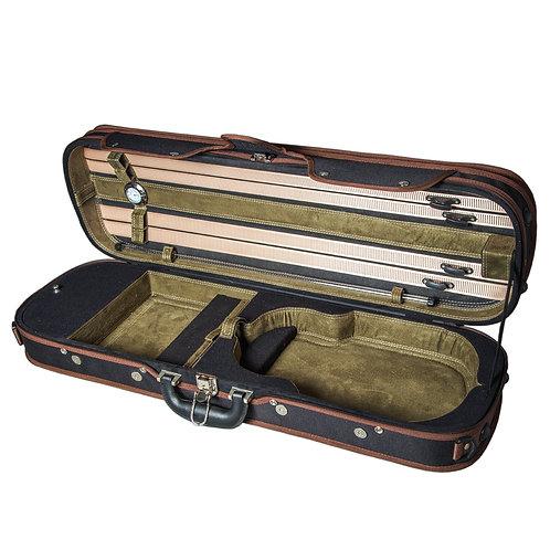 Sky Violin Oblong Case VNCW013 Solid Wood with Hygrometer Black/Green