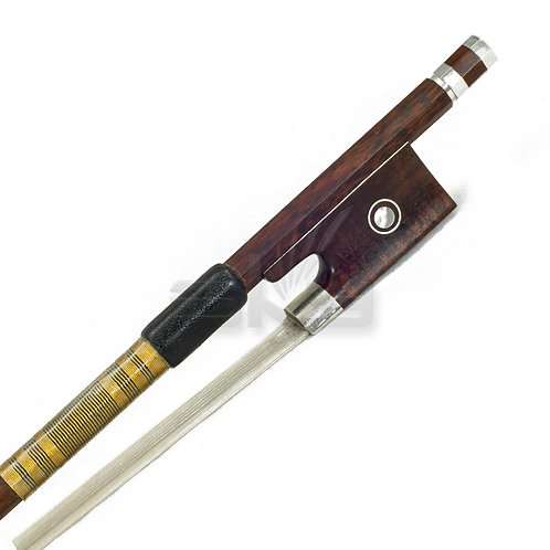 Full Size Violin Bow SnakeWood Mongolian Horsehair Octagonal Stick Gold Wrap