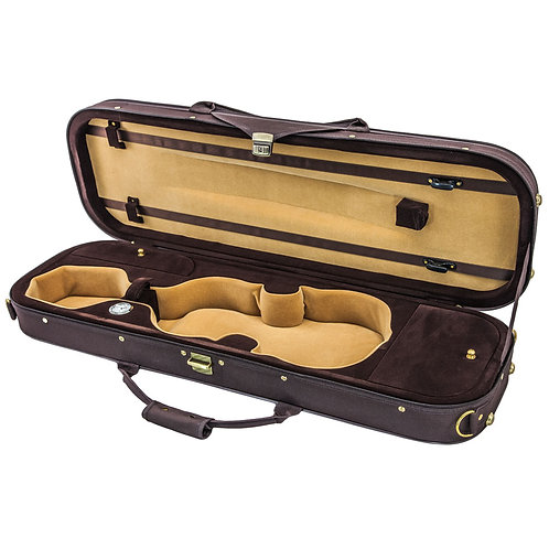 SKY 4/4 Full Size Violin Oblong Case Lightweight with Hygrometer Brown/Coffe