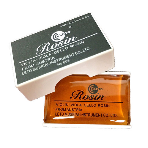 Leto 603 Rosin for Violin Viola Cello, Light and Low Dust