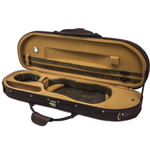 Sky Violin Halfmoon Case VNCHM02 Lightweight with Hygrometer Coffee/Khaki