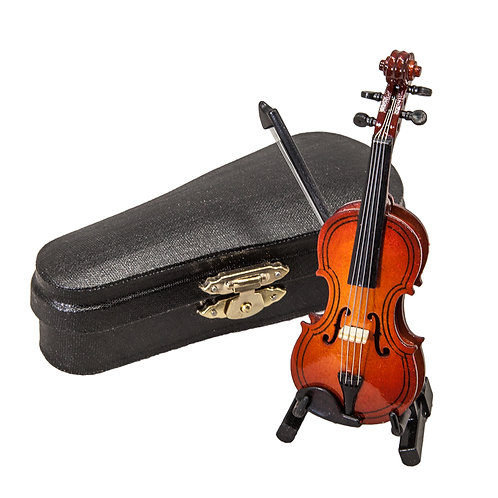 Delicate Miniature Violin 4 inches Great Gift Idea