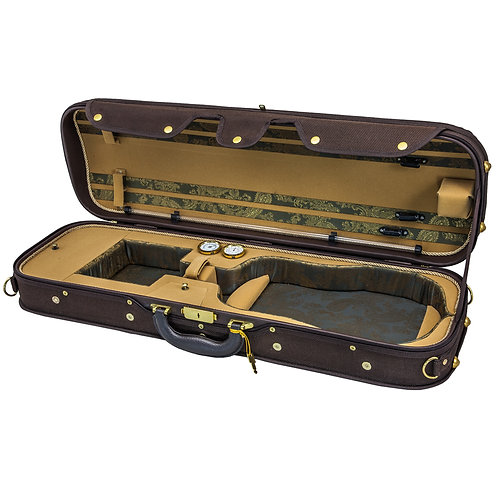 Sky Violin Oblong Case VNCW05 Solid Wood with Hygrometer Brown/Khaki