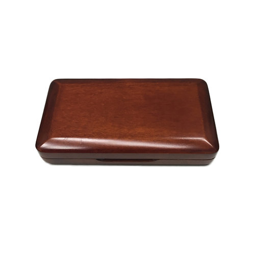 Maroon Wooden Oboe Reed Case with Smooth Surface for 3pcs Oboe Reeds