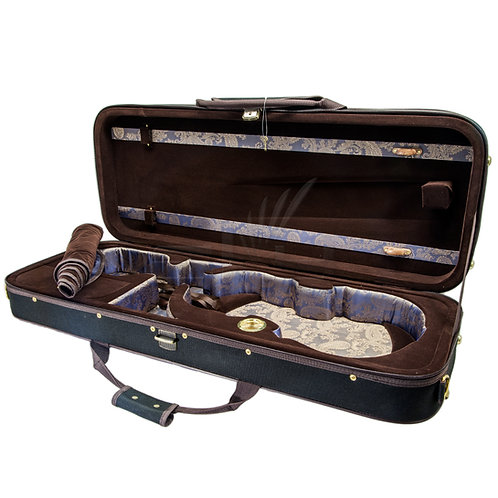Paititi Professional Oblong Shape Lightweight Viola Hard Case with Hygrometer