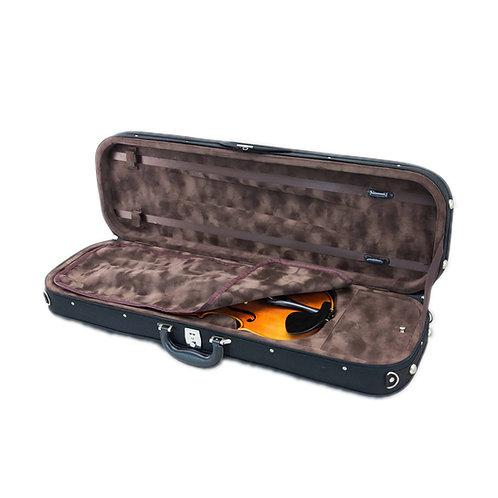SKY Violin Oblong Case Lightweight with Hygrometer Black/Brown