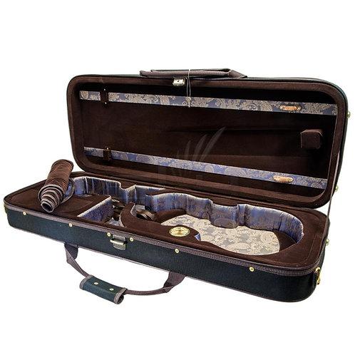 SKY VAQF28 Premium Oblong Viola Case with Hygrometer Black/Brown