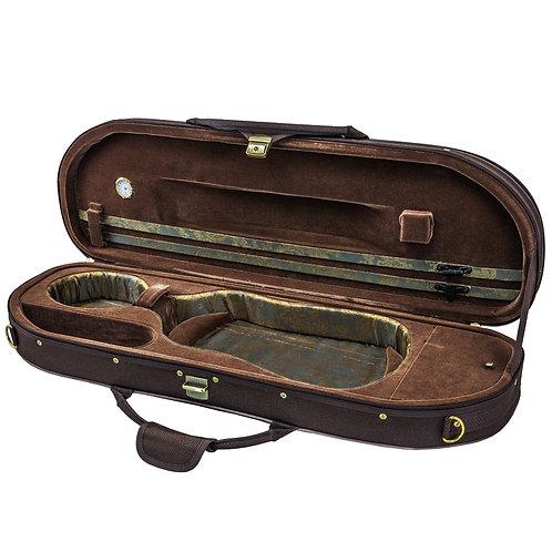 Sky Violin Halfmoon Case VNCHM01 Lightweight with Hygrometer Coffee/Coffee Brown