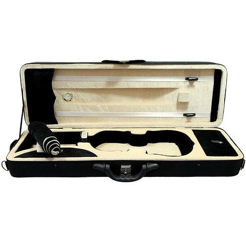 SKY 4/4 Full Size Professional Oblong Shape Lightweight Violin Case Black/Khaki