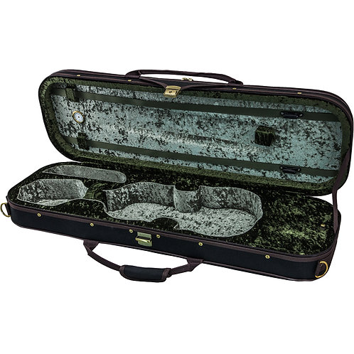 SKY 4/4 Full Size Violin Oblong Case Lightweight with Hygrometer Black/Ice