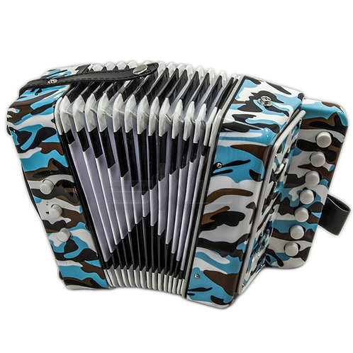 SKY Accordion Camouflage 7 Button 2 Bass Kid Music Instrument *Great Gift*