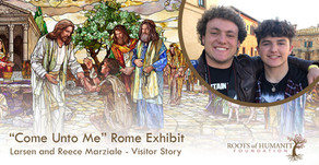 "Larsen and Reece Marziale - ""Come Unto Me"" Exhibit Visitor Story"