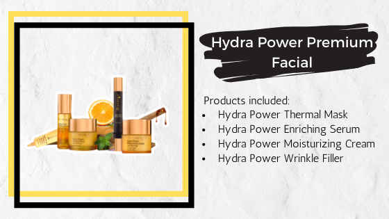 Hydra Power Premium Facial Treatment products